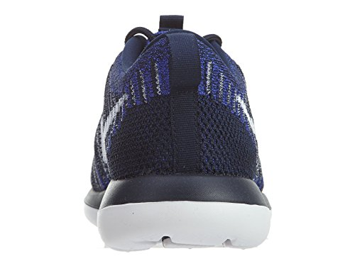Nike Kids Roshe Deux Flyknit (gs) Chaussures De Course College Navy / White