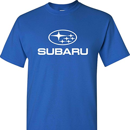 Subaru Logo On A Blue T Shirt
