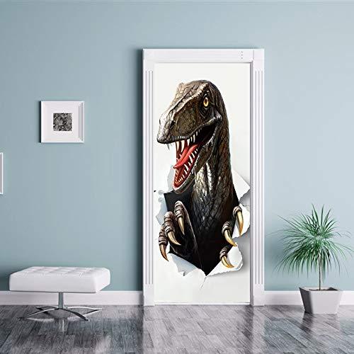- homeagainpalmbeach 77x200cm Creative Animal Dinosaur Door Stickers Painting Wallpaper Poster Wall Sticker Bedroom Living Room Home Decoration
