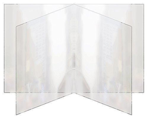 Risch 81 8.5X11 Heat Sealed Vinyl Menu Cover Quad Pocket Booklet, All Clear, 8.5