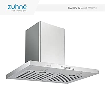 Zuhne Taurus 30 inch Kitchen Wall Mount Ducted/Ductless Stainless Steel Range Hood or Stove Vent