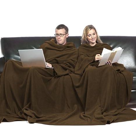 Coperta Con Maniche Slanket.Slanket Coperta Con Maniche Doppia Colore Cioccolato