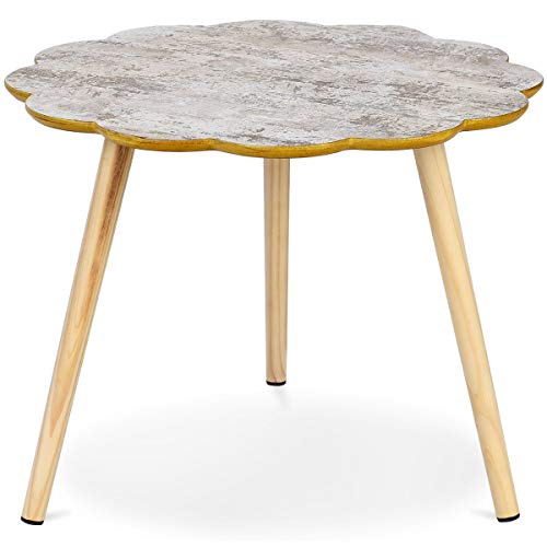 Giantex Nesting Table Flower Shaped Coffee Table Sofa Side Table Accent End Table Home Living Room Furniture