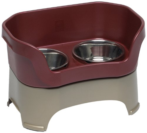 Neater Feeder for Dogs, Dog Bowl, Large, Cranberry, My Pet Supplies