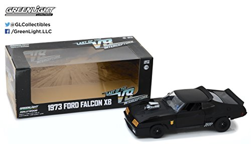 Greenlight 1 Last of The V8 Interceptors (1979) -1973 Ford Falcon XB Die-Cast Vehicle 1, 1:18, Black (Figurine Max Mad)