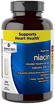 Member s Mark Flush Free Niacin Inositol Hexanicotinate Capsules, 500mg 4 bottles 800 capsule