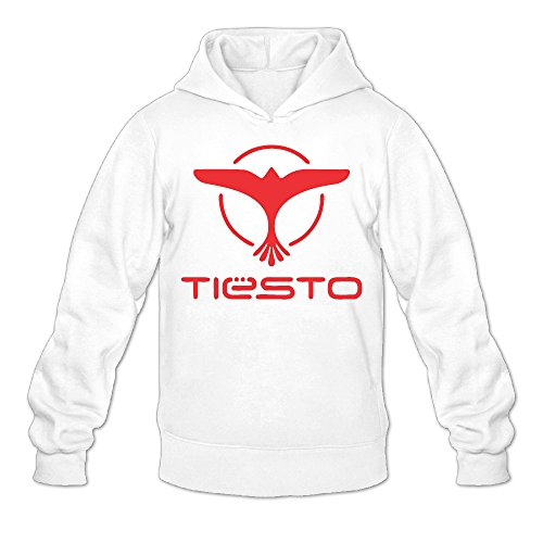 Red Tiesto Eagle Classic Men's Hooded Hoodies White L