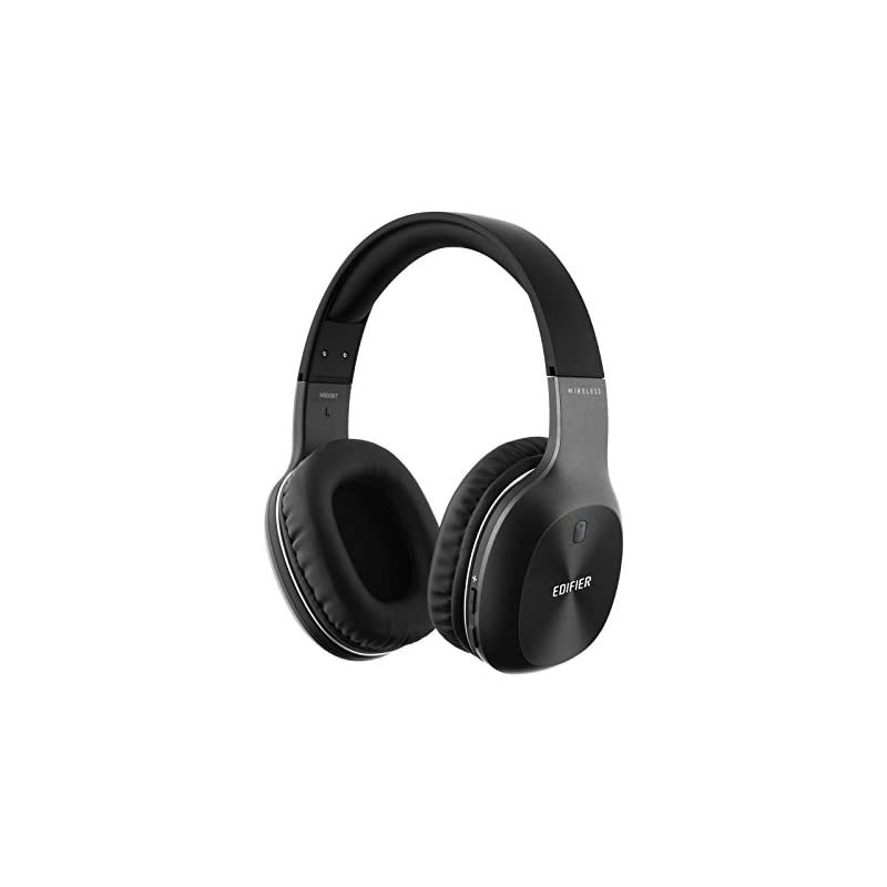 Edifier W800BT Bluetooth Headphones - Over-the-ear Wireless Headphone, Long Battery Life, Lightweight, Fast Charging - Black