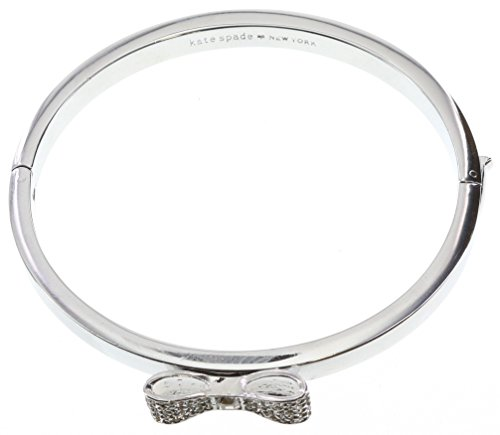 Kate Spade New York Ready Set Bow Bangle Hinged Bracelet (Clear/Silver)