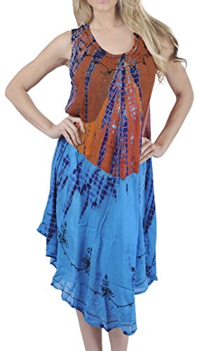 Tie Dye Smocked Dress - 7