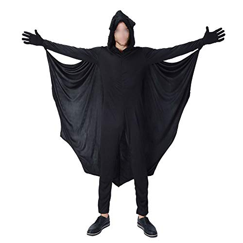 Janjunsi Halloween Costumes - Child Adult Cozy Bat Jumpsuit Girls Boys Women Men Family Vampire Cosplay Costume Party