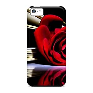 New Diy Design Red Rose For Iphone 5c Cases Comfortable For Lovers And Friends For Christmas Gifts