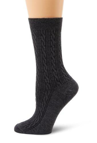 Sockwell Women's San Fran Cable  Socks, Charcoal, -