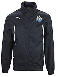 2013-14 Newcastle Puma Hooded Rain Jacket (Black)