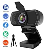 Webcam with Microphone, Hrayzan 1080P HD Webcam