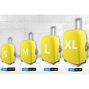 Chaqlin Funda protectora elástica para equipaje de viaje con diseño de mapamundi, para equipaje de 18 a 32 pulgadas