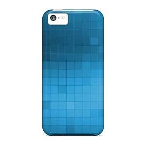 Defender Case For Iphone 5c, Blue Tiles Pattern