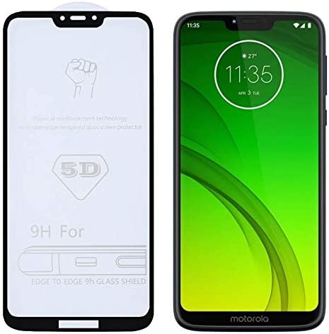 Huancement Phone Screen Protector 25 PCS 9H 5D Full Glue Full Screen Tempered Glass Film for Motorola Moto G6