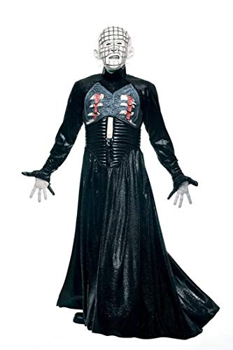 Paper Magic Men's Clive Barker's Hell Raiser Adult Pin Head Costume And Mask,Black,X-Large -