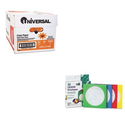 KITQUA68905UNV21200 - Value Kit - Quality Park Colored CD/DVD Paper Sleeves (QUA68905) and Universal Copy Paper (UNV21200)