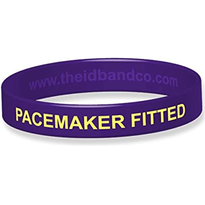 The Band Company Pacemaker Fitted Medical Alert Silicone Wristband Large Purple 20 2cm Estimated Price £5.70 -