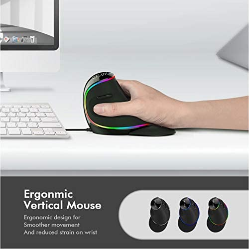 Mouse Portable Wireless Ergonomic Vertical 3D Mouse Notebook PC USB Mouse Cordless Power-Saving Computer Laptop Mouse