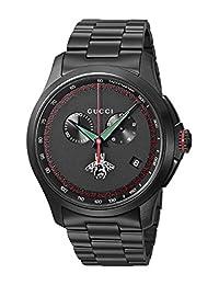 Gucci Men's YA126269 Analog Display Swiss Quartz Black Watch