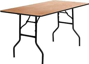 Amazon Com Flash Furniture 30 X 60 Rectangular Wood