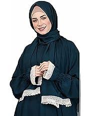 Religion prayer dress for woman / petrol