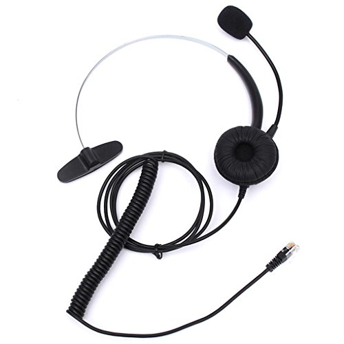 Headset With Microphone Adjustable Metal Headband Telephone Noise Reduction Headphone For Office Call Center,Call Center Telephone /IP Phone Headset with Adjustable Boom Mic 4-pin (M3905 Call Center)
