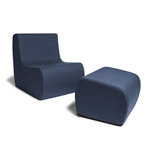41m5iJlNbXL - Jaxx-Shea-Casual-All-Foam-Living-Room-Chair-Matching-Ottoman-Set-Navy