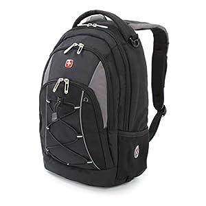 Swiss Gear Bungee Backpack, Black/Grey, One Size