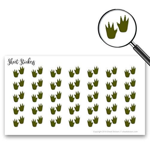 (Alligator Print Track Tracks Zoo, Sticker Sheet 88 Bullet Stickers for Journal Planner Scrapbooks Bujo and Crafts, Item 157480)