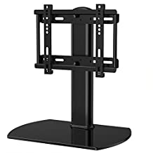 Fitueyes Universal TV Stand /Base Swivel Tabletop TV Stand with mount for up to 37 inch Flat screen Tvs/xbox One/tv Component /Vizio Tv (TT104001GB)