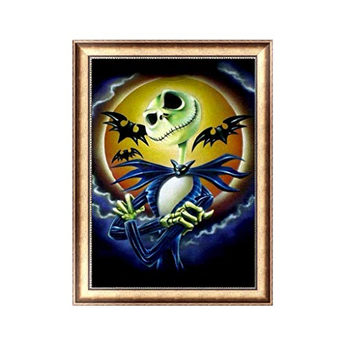 Yumoo Halloween DIY 5D Diamond Painting, Crystal Rhinestone Embroidery Pictures Arts Craft for Home Wall Decor