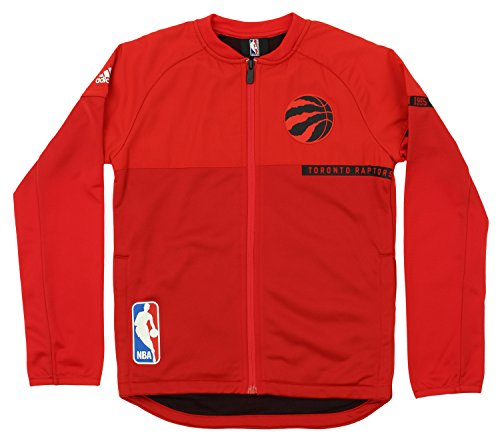 Outerstuff NBA Youth Boys Toronto Raptors Full-Zip On Court Jacket, Red X-Large (18-20)