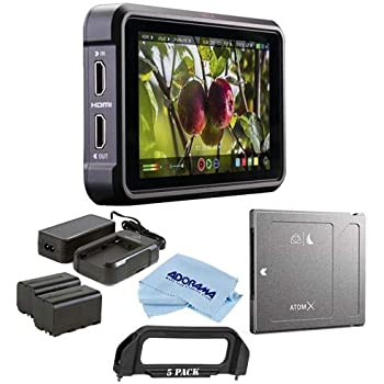 Atomos Ninja V 5in Touchscreen Recording Monitor, 1980x1080, 4K HDMI Input - Bundle Power Kit, Angelbird AtomX SSDmini 500GB External Solid State ...
