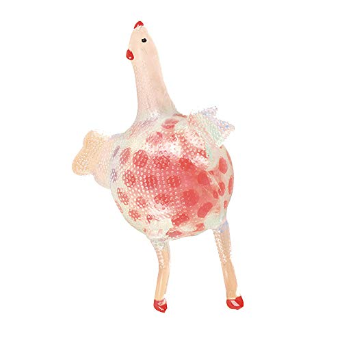 WUAI Chicken Lay Egg Mesh Ball Stress Grape Toys Anxiety Relief Stress Ball (Red)]()