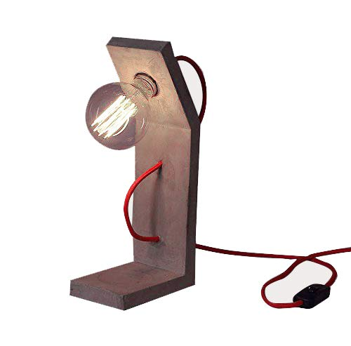 Lampe A Poser Beton Ampoule Globe E27 A Filaments Vintage 40w 80