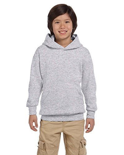 8ad98400 Hanes P473 Youth Comfort Blend Ecosmart Pullover Hoodie Size - Large - Ash