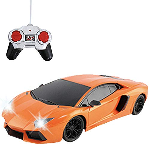 - Liberty Imports RC Remote Control Sports Car with LED Headlights and Backlights 1:18 Scale (Orange)