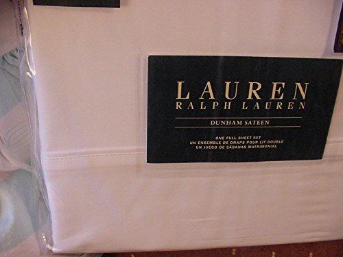 Lauren Ralph Lauren Dunham White Sheet Set Full - New Ralph Lauren Sheet