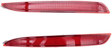 Car Rear Tail Bumper Reflector Reflective Stripe Cover Warning Fog Light Lamp Fit For Mazda 3 BL 2009-2013 RHD XFC-WU