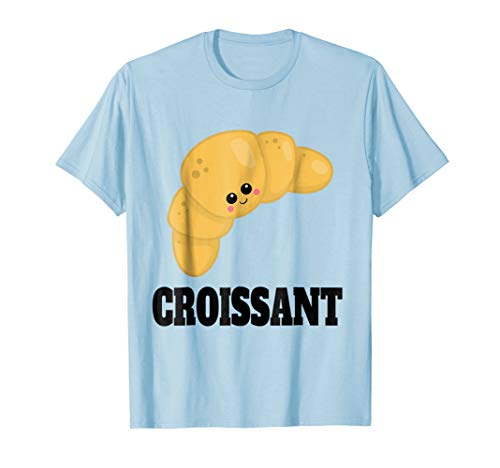 Cute Croissant Halloween Costume Lazy Easy Kawaii Pastry Tee]()