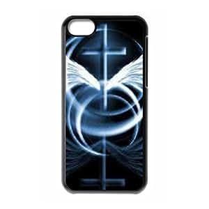 LZHCASE Diy Hard Shell Case Jesus Christ Cross For Iphone 5C [Pattern-1]