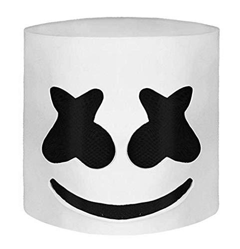 koobea Marshmello Helmet Latex Party DJ Marshmellow Head -