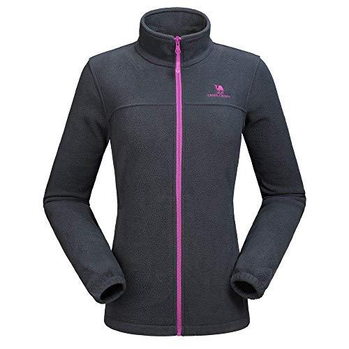 CAMEL CROWN Women's Polar Fleece Jacket Full Zip, Lightweight Windproof...