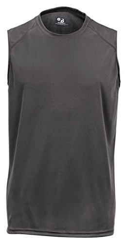 Badger Sportswear B-Dry Sleeveless Athletic Performance T-Shirt, XXX-Large, Graphite