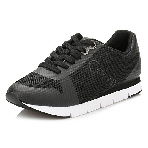3c633513662a78 Calvin Klein Jeans Damen Schwarz Taline Mesh Sneakers -schule ...