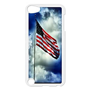 American Flag, Bold Vivid Color Design Snap-on Cover Hard Carrying Case FOR Ipod Touch 5 AKG286923